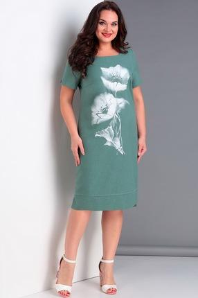 Купить Платье Jurimex 1984 бирюзовые тона, Повседневные платья, 1984, бирюзовые тона, полиэстер – 71%, вискоза – 24%, спандекс – 5%, Лето