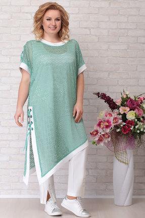 женский брючный костюм aira style, зеленый