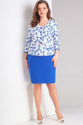Комплект юбочный Милора-Стиль 639н синие тона