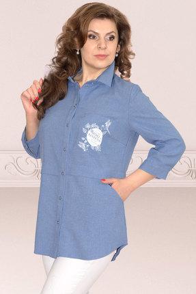 Рубашка Needle Ревертекс 370/1-1 синий