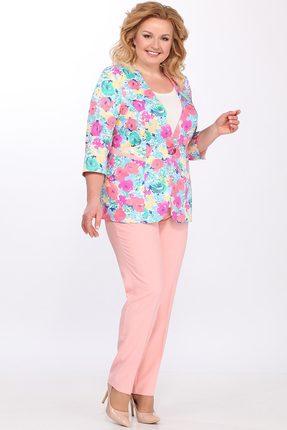 Комплект брючный Lady Secret 2629 пудра с цветами
