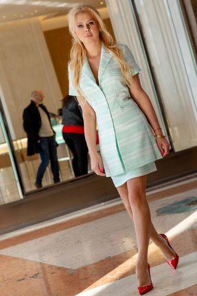 Комплект юбочный Vesnaletto 2077-2 молочный с мятным