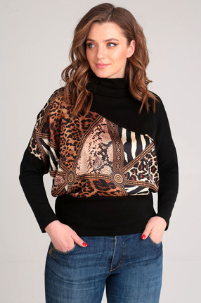 Джемпер Таир-Гранд 62340 рыжий леопард Таир-Гранд