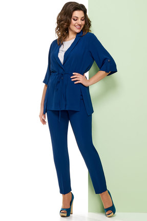 Комплект брючный Denissa Fashion 1232 сапфир с синим