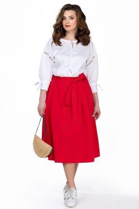 Комплект юбочный TEZA 163 красно белый