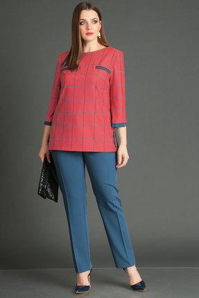 женский брючный костюм viola style, красный