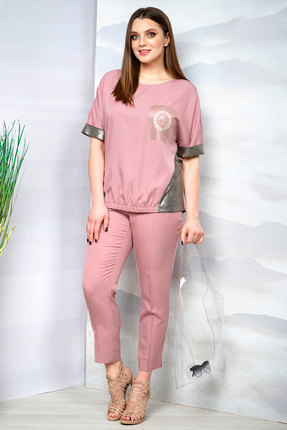 Купить со скидкой Комплект брючный Olegran о-660 розовый