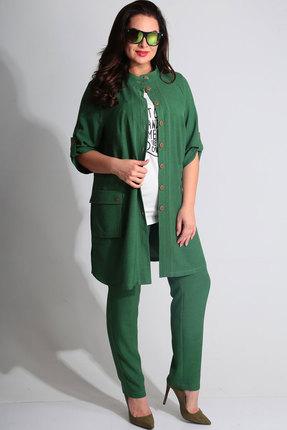 Комплект брючный Axxa 11144б зеленый яркий