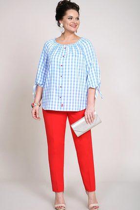Комплект брючный Alani 932 голубой с красным