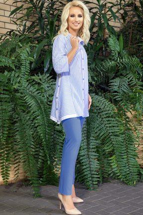 Комплект брючный DilanaVIP 1288 синий с белым