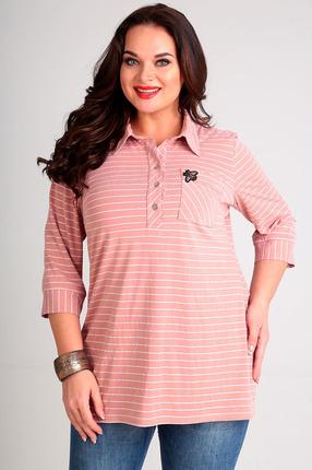 Купить Блузка Таир-Гранд 62327 розовый, Блузки, 62327, розовый, Состав: модал 63%, пэ 37%, Мультисезон