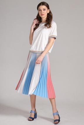 Комплект юбочный Магия Моды 1605 сине-белый