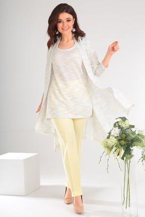 Комплект брючный Мода-Юрс 2357 светло желтый с сиреневым Мода-Юрс