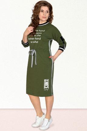 Спортивное платье Needle Ревертекс 395-1 зеленый