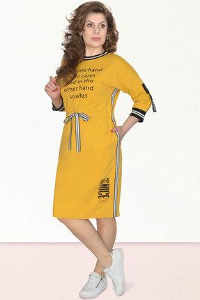 Спортивное платье Needle Ревертекс 395-3 желтый