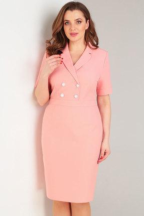 Купить Платье Милора-Стиль 709 розовый, Повседневные платья, 709, розовый, вискоза 60%; полиэстер 35%; спандекс 5%, Лето