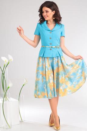 Комплект юбочный Мода-Юрс 2103 ярко-голубой