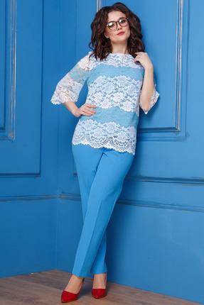 Комплект брючный Anastasia 283 голубой