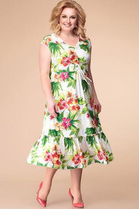 Купить Платье Romanovich style 1-869 зеленый с красным, Повседневные платья, 1-869, зеленый с красным, 95% ПЭ, 5% спандекс, Лето
