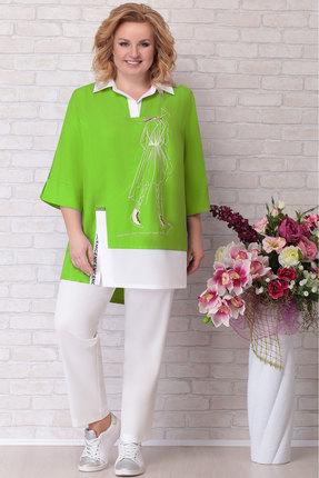 Комплект брючный Aira Style 671 зеленый