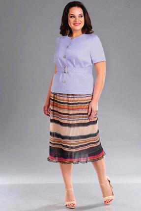 Комплект юбочный Ива 1098 сиреневый с разноцветом ИВА