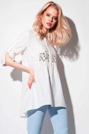 Цветочная ажурная длинная кружевная блузка