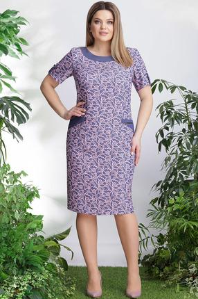 Купить со скидкой Платье LeNata 11905 синий с розовым