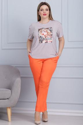 Комплект брючный Michel Chic 594 оранжевые тона