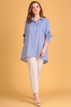 Комплект брючный Anastasia Mak 613 голубой