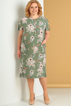 женское повседневные платье algranda, зеленое