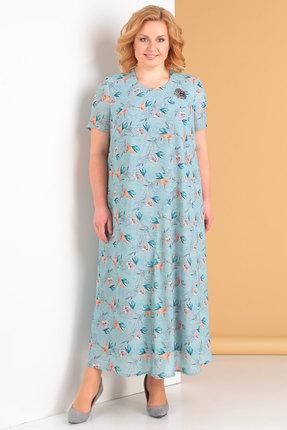 женское повседневные платье новелла шарм, голубое