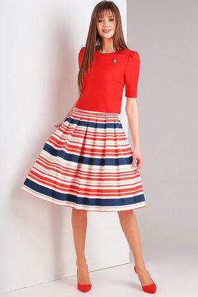 Комплект юбочный Милора-Стиль 711 красный с полоской