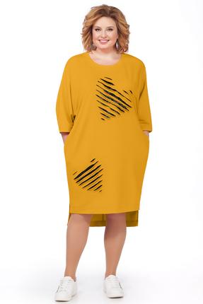 женское повседневные платье pretty, желтое
