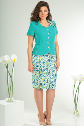 Комплект юбочный Мода-Юрс 2026 бирюзовый Мода-Юрс