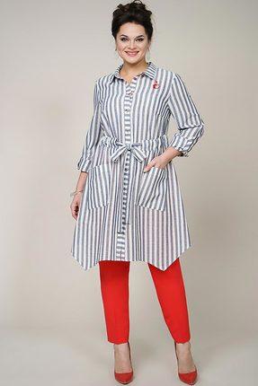 Комплект брючный Alani 943 серо-белый с красным
