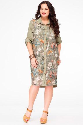 Купить Платье Avanti Erika 603 олива, Повседневные платья, 603, олива, вискоза 72%, ПЭ 25%, спандекс 3%, Мультисезон