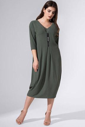 Купить Платье Avanti Erika 780 болотный, Повседневные платья, 780, болотный, вискоза 72%, ПЭ 25%, спандекс 3%, Мультисезон