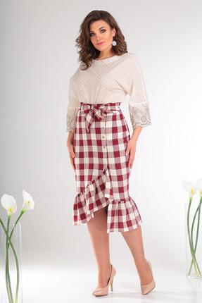 Комплект юбочный Мода-Юрс 2476 бордовый