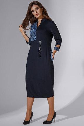 Купить Платье Avanti Erika 744 синий, Повседневные платья, 744, синий, вискоза 72%, ПЭ 25%, спандекс 3%, Лето