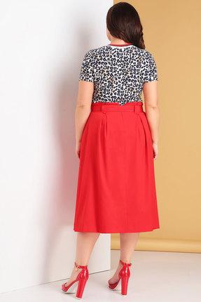 Фото 2 - Комплект юбочный Denissa Fashion 1235 красный красного цвета