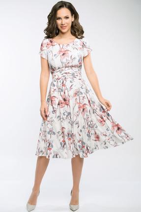 Фото 3 - Платье Teffi style 721.2 амарантовый цвет амарантовый