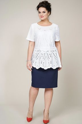 Комплект юбочный Alani 959 синий с белым