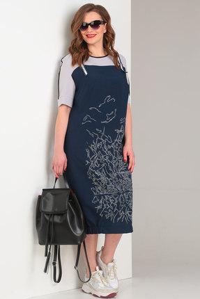 Фото - Платье Viola Style 0855 синий синего цвета