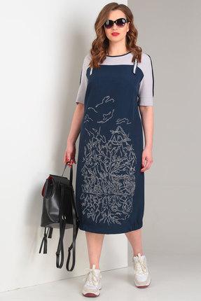Фото 2 - Платье Viola Style 0855 синий синего цвета