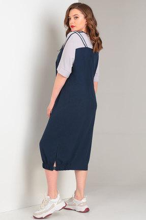 Фото 3 - Платье Viola Style 0855 синий синего цвета