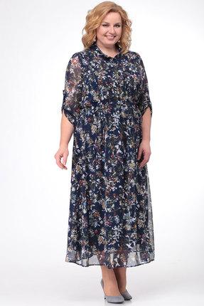 Фото - Платье KetisBel 1421 синий с цветным цвет синий с цветным