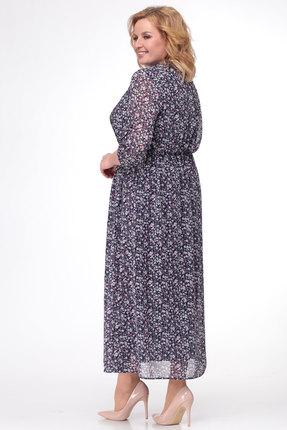 Фото 2 - Платье KetisBel 1421 фиолетовый с синим цвет фиолетовый с синим
