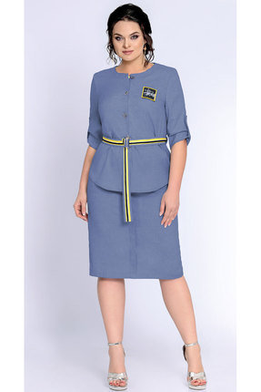 Фото - Комплект юбочный Джерси 1786 синий с желтым цвет синий с желтым