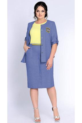 Фото 2 - Комплект юбочный Джерси 1786 синий с желтым цвет синий с желтым