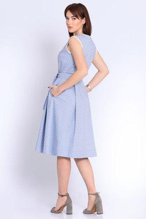 Фото 2 - Платье Джерси 1796 голубой голубого цвета